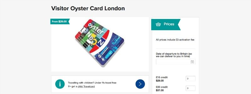 Day Travel Card Prices Oyster