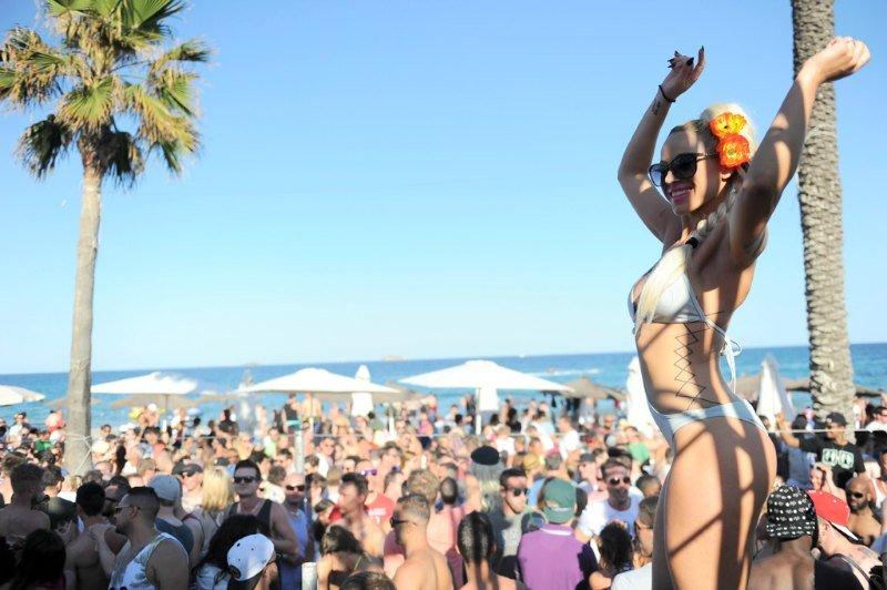 dancer at Bora Bora Ibiza