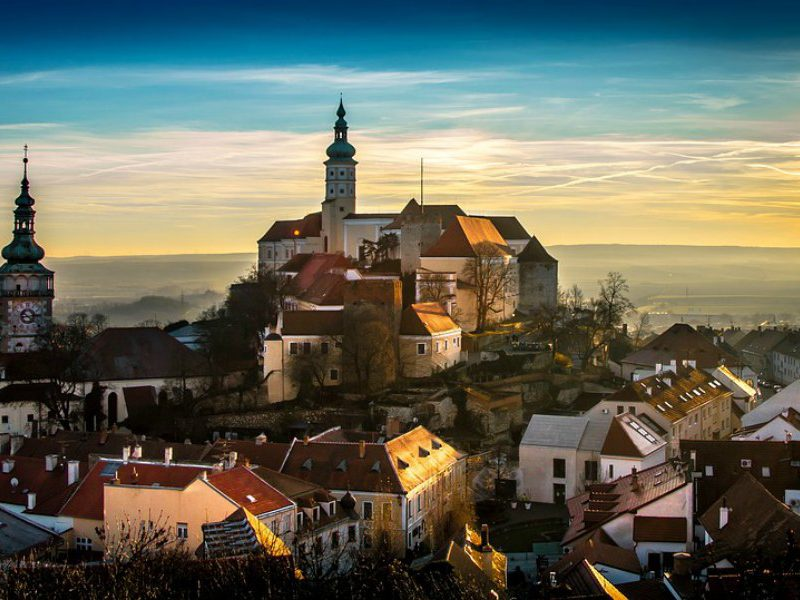 Mikulov Castle is a major drawcard for tourists, standing majestically above this old Czech town.