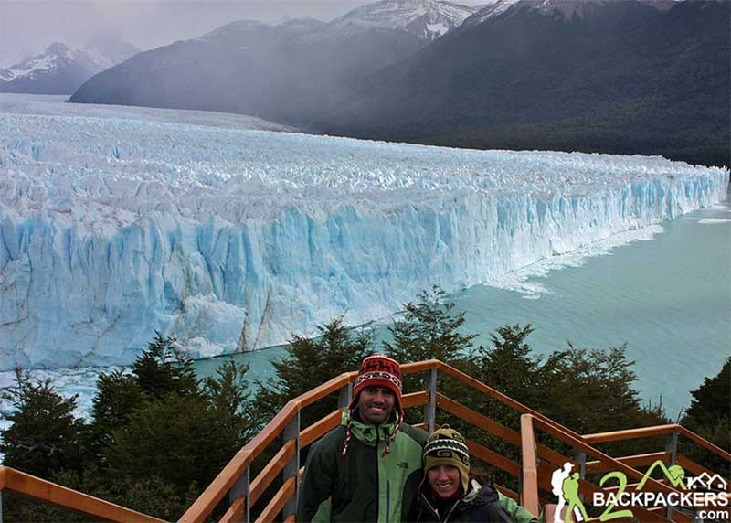 Jason and Aracely at Perito Moreno Glacier