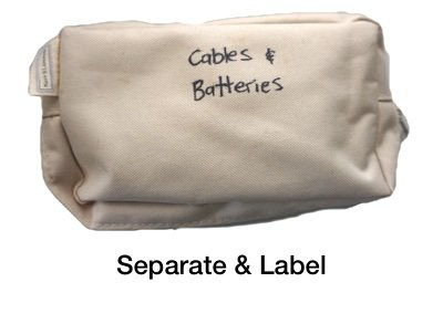 separate batteries and cables
