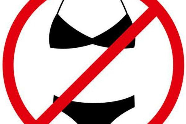 no bikinis