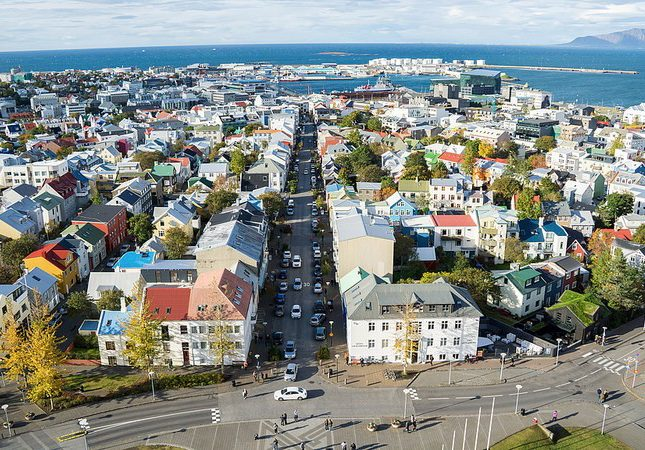 Looking out over the city of Reykjavik