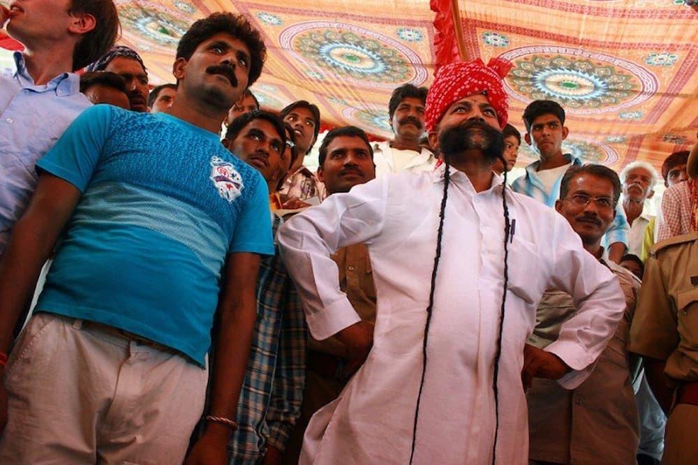 Mister mustache competition in the Pushkar Stadium