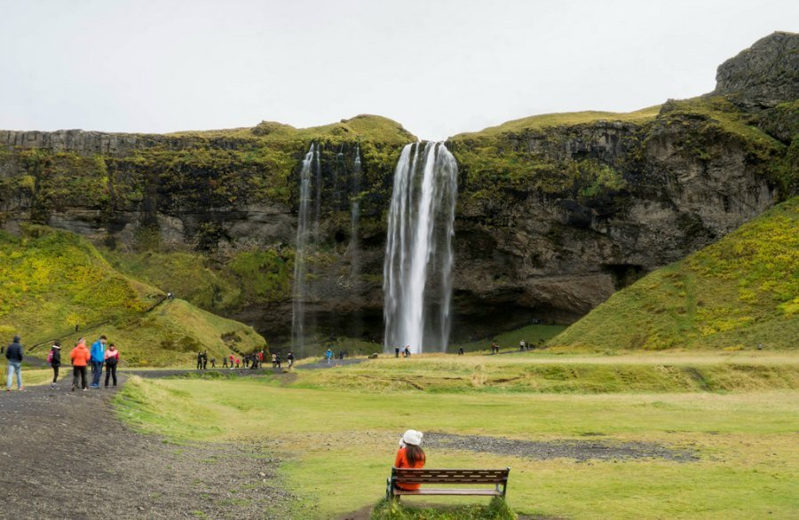 Seljalandsfoss from the front