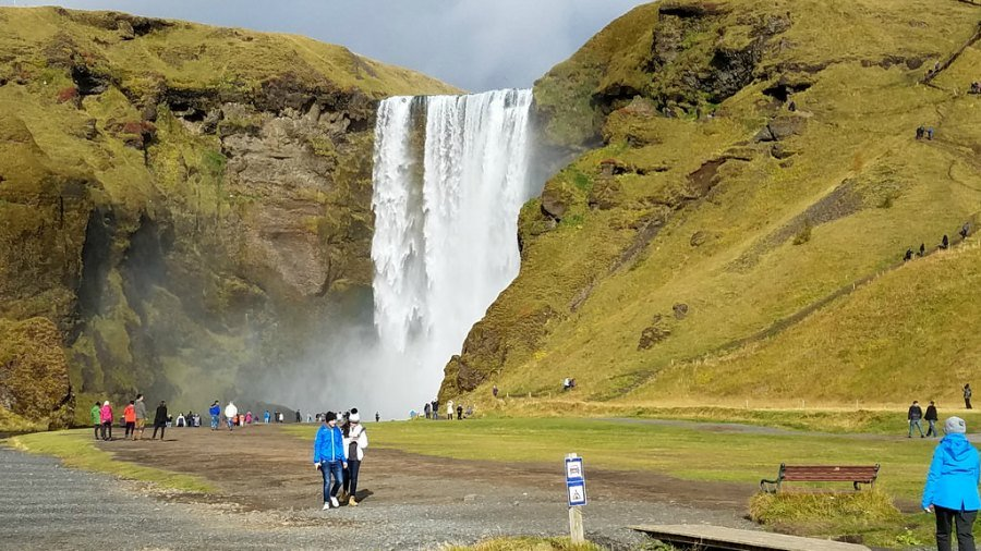 The majestic Skogafoss