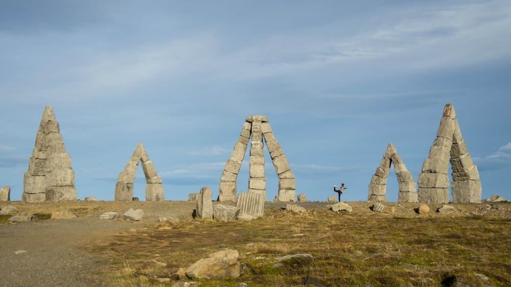 Yoga at the Arctic Henge