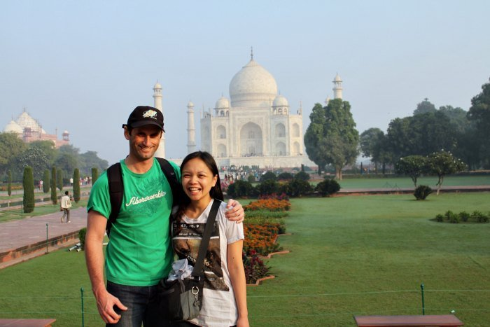 Mike and Lisette at the Taj