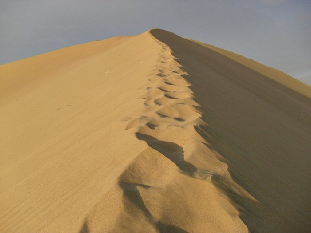 A massive sand dune