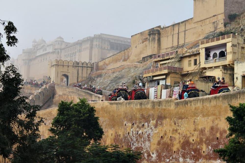 Amber Fort through the haze