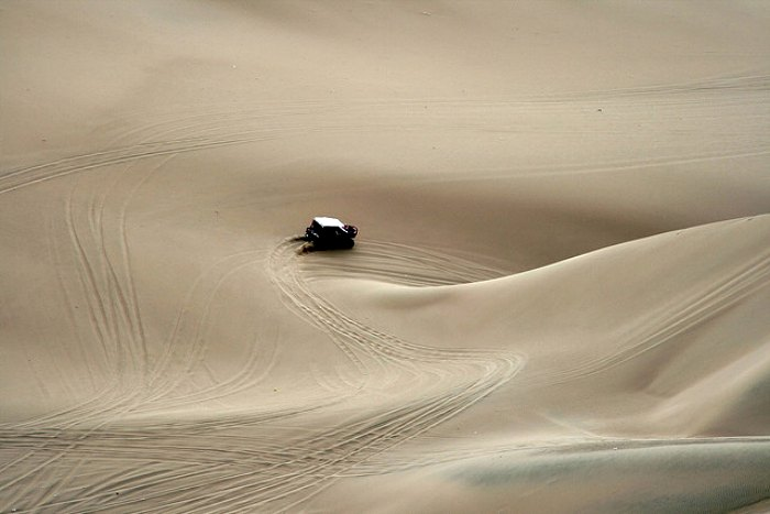 Winding through the dunes