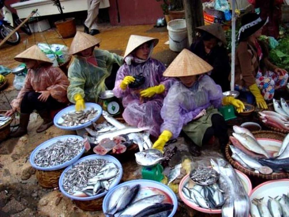 Fish market in Vietnam