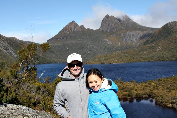 Mike and Lisette at Cradle Mountain