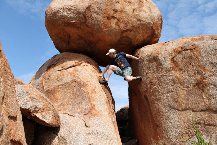 Climbing the Devils Marbles