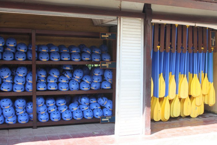 Helmets and paddles