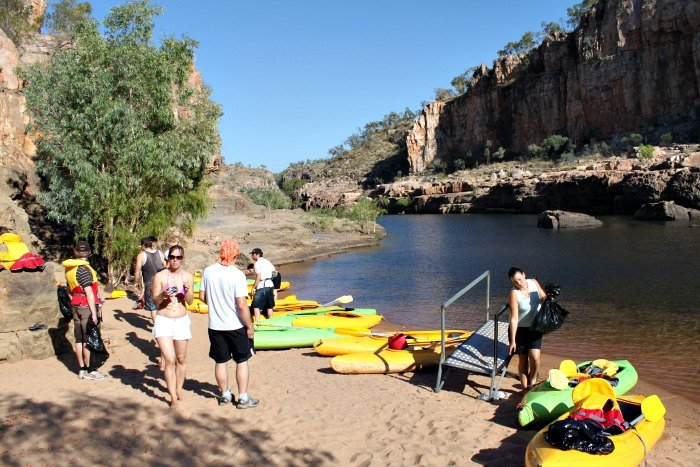 Kayaking at Katherine Gorge