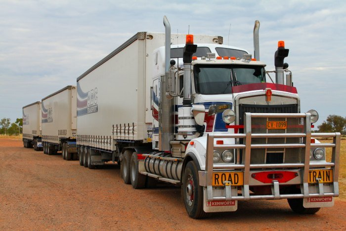 One of the massive road trains