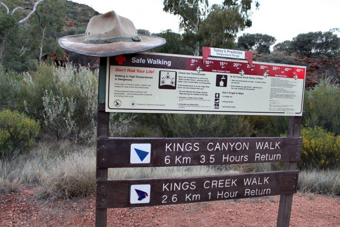 Sign for Kings Canyon