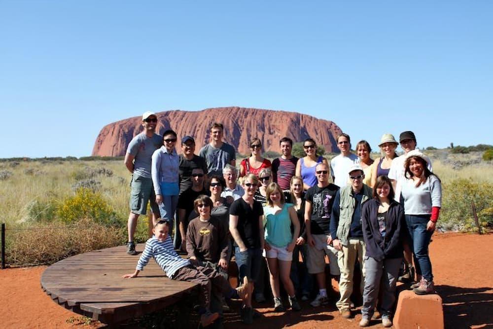 Tour group at Uluru
