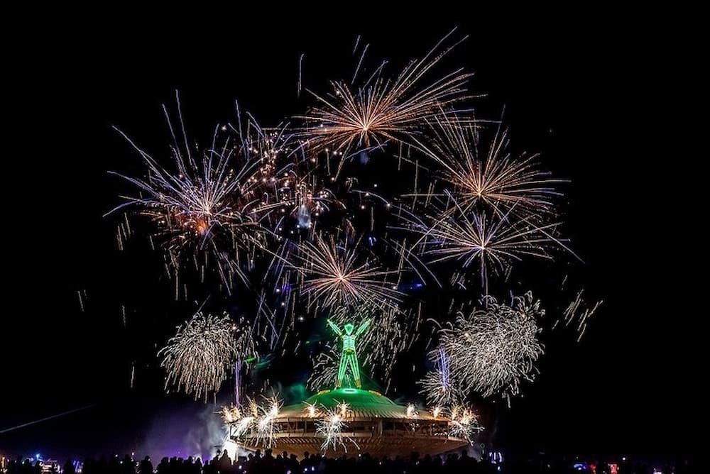 Fireworks Light Up The Sky Burning Man 2013