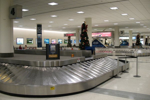 Empty luggage carousel