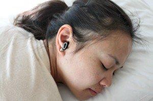Sleeping with Dubs earplugs