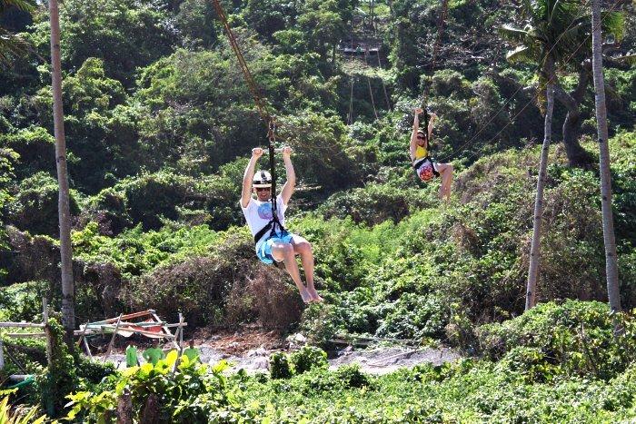 ziplining in Boracay