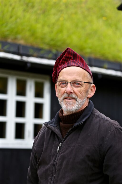 A Faroese man in traditional dress