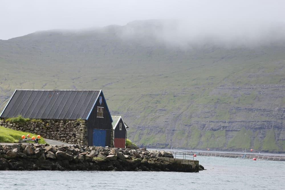 Boat houses at Vestmanna