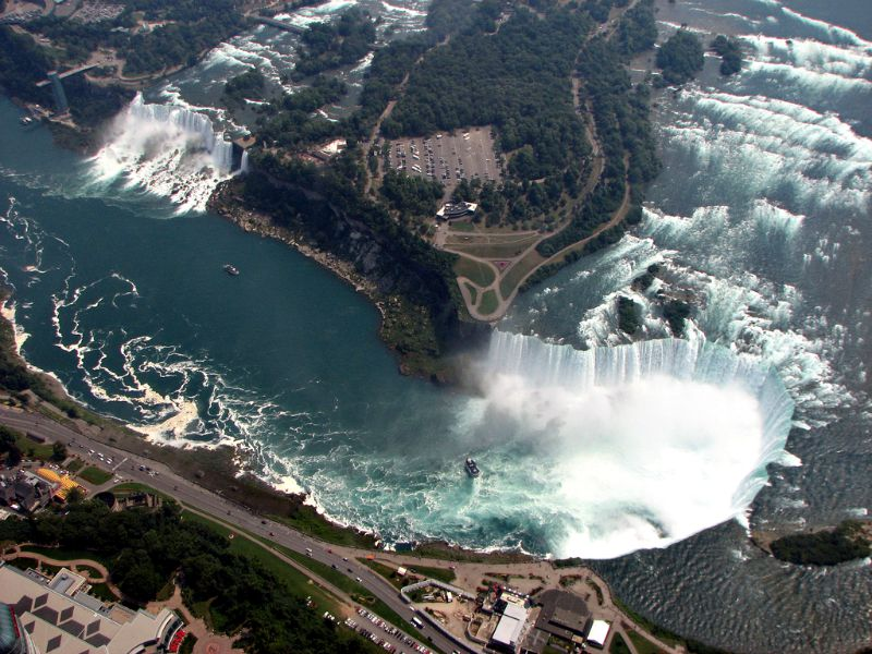 Niagara Falls, from the air