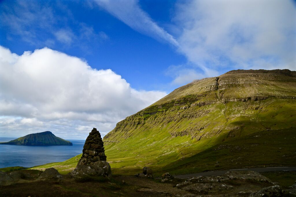 On the road from Torshavn