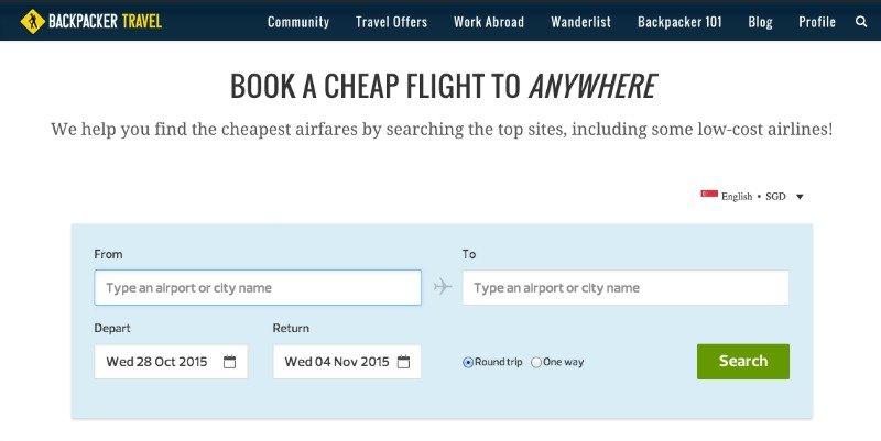 Backpacker Travel Flights