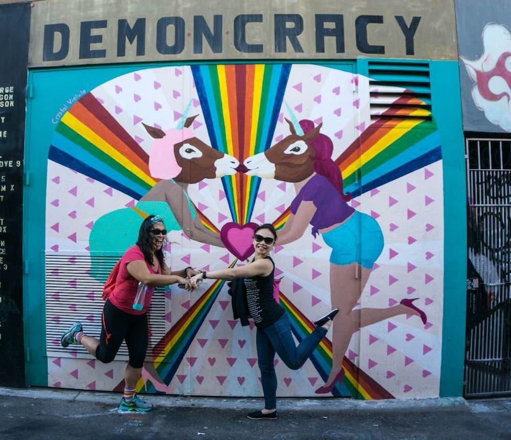 Demoncracy mural