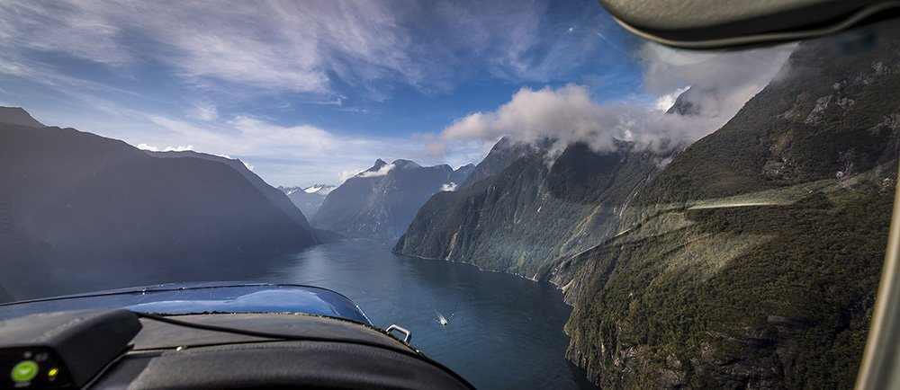 Approach into the Milford Sound