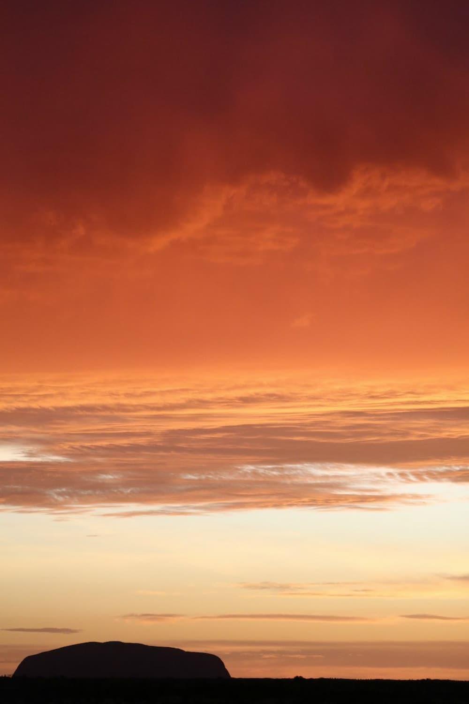 Silhouette of Uluru