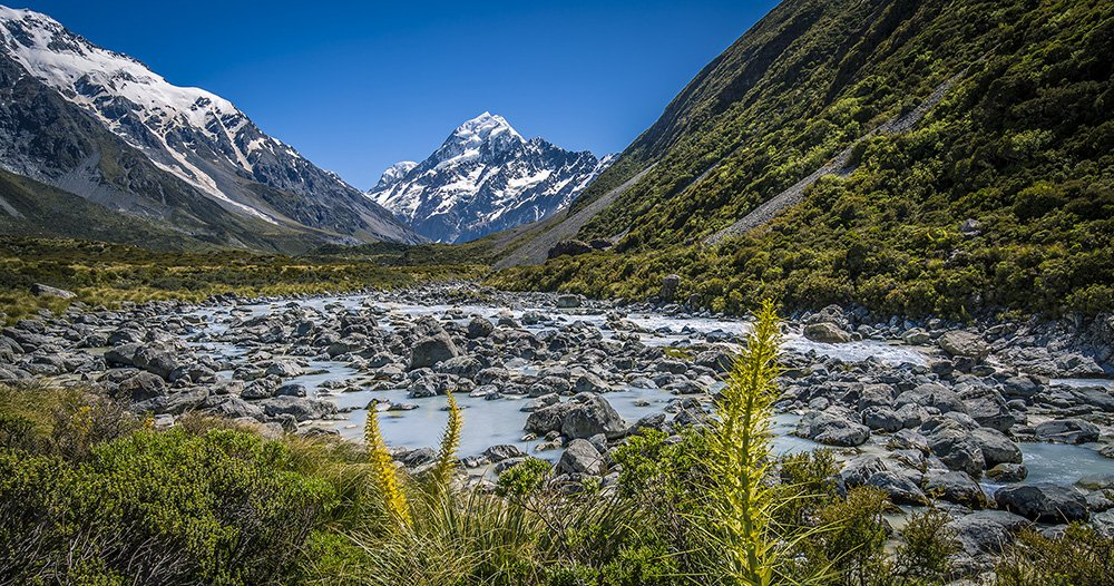 The beautiful Mt. Cook