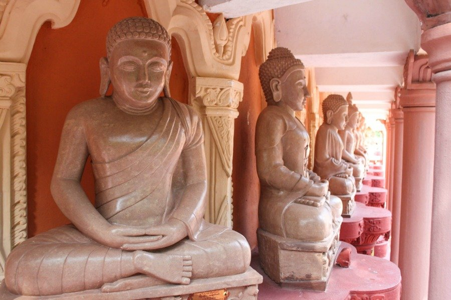 different buddha statues