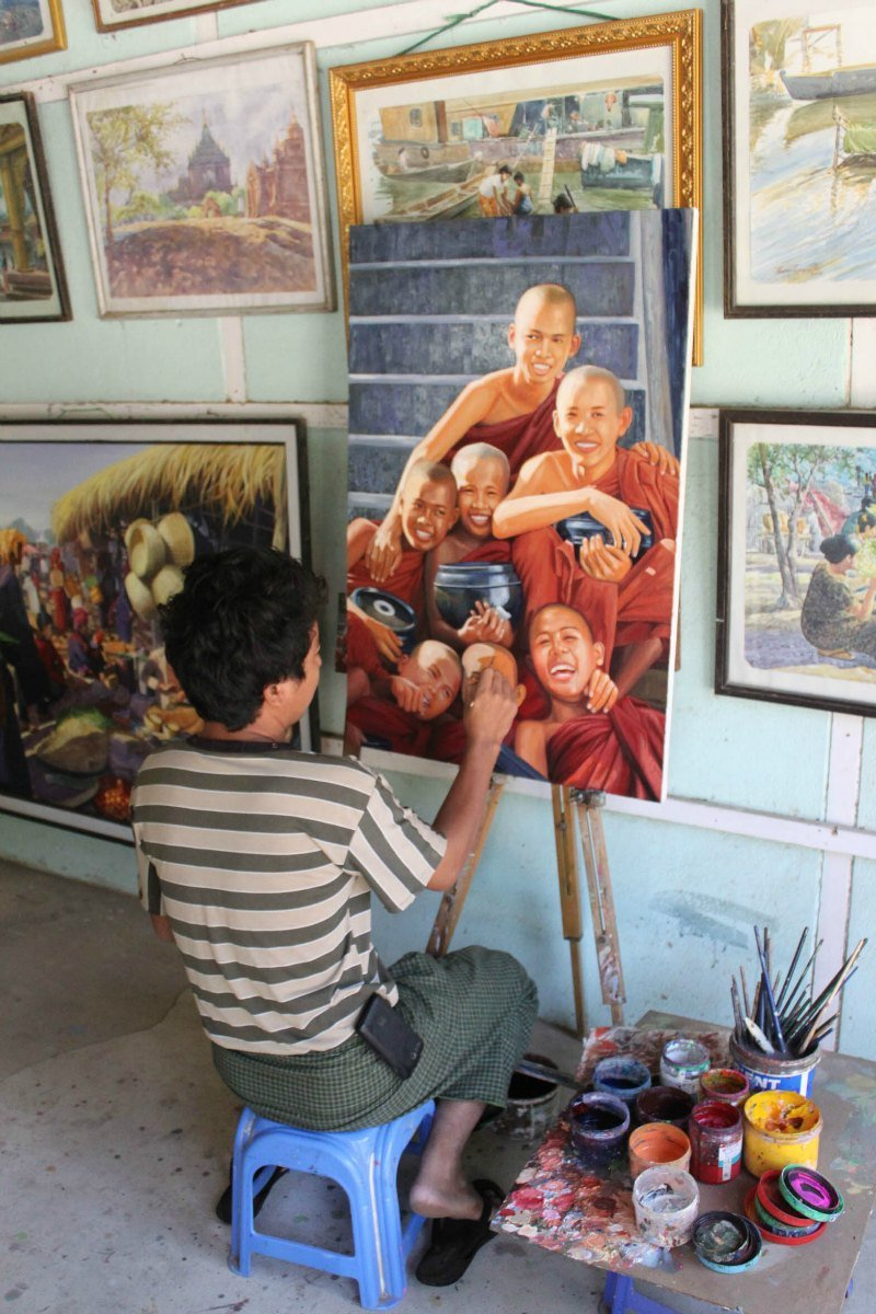 painter in myanmar