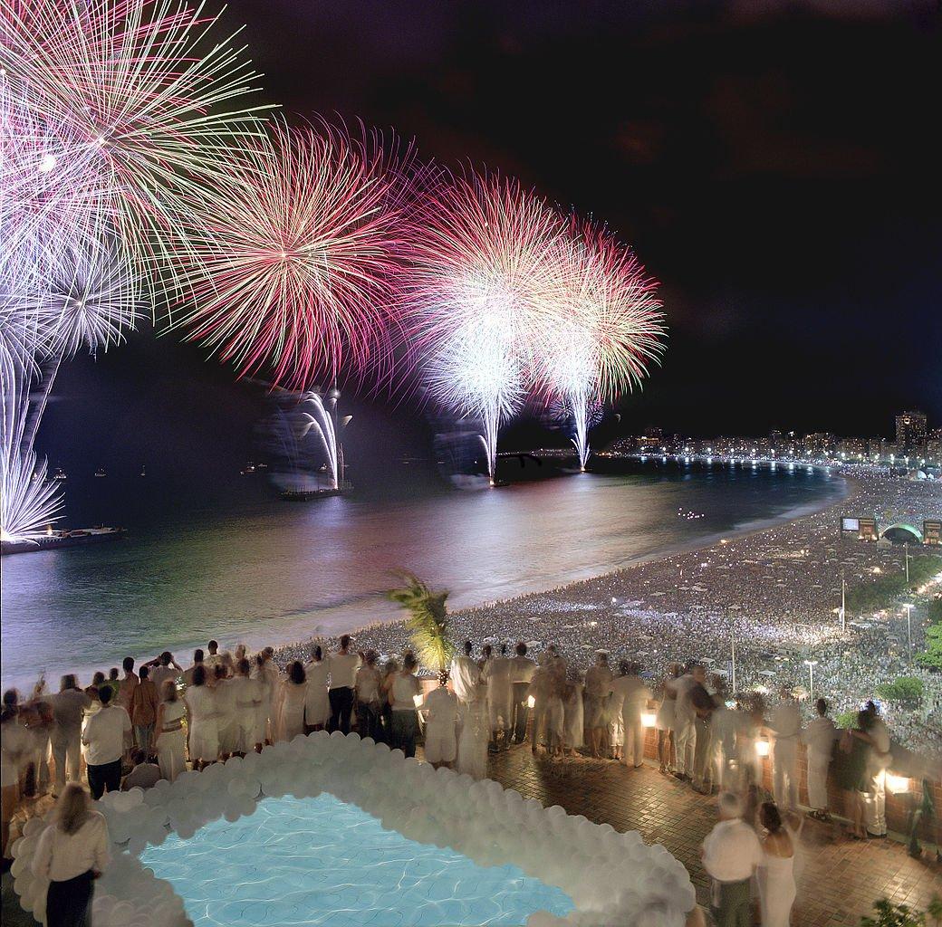 NYE fireworks over Rio