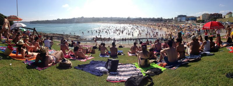 Bondi on New Year's Day
