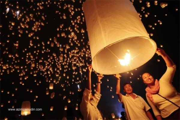 Celebration of the Yi Peng Lantern Festival