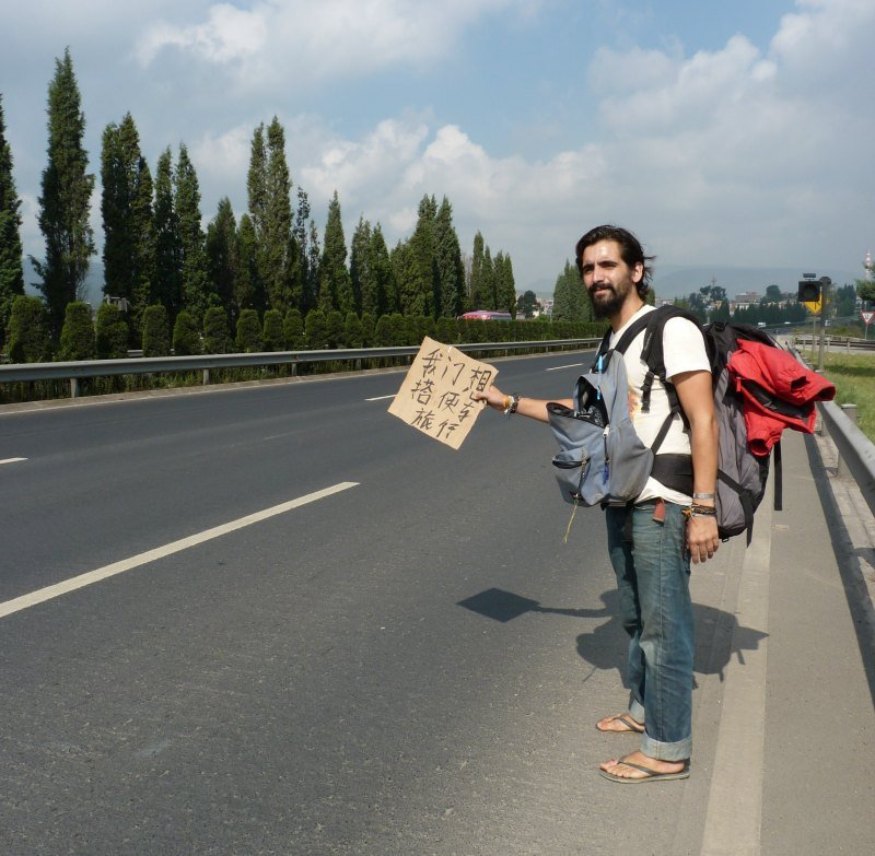 Hitchhiking in China