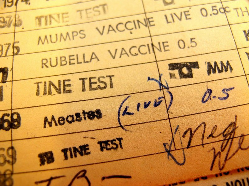 Schedule of vaccinations
