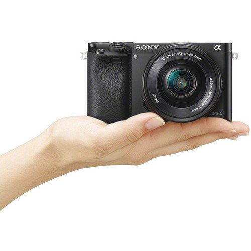 Sony Alpha A6000 Mirrorless Digital Camera in palm