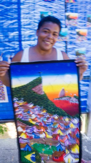 local selling her painting