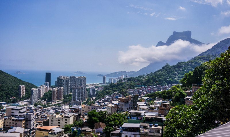 ocean view from the favela
