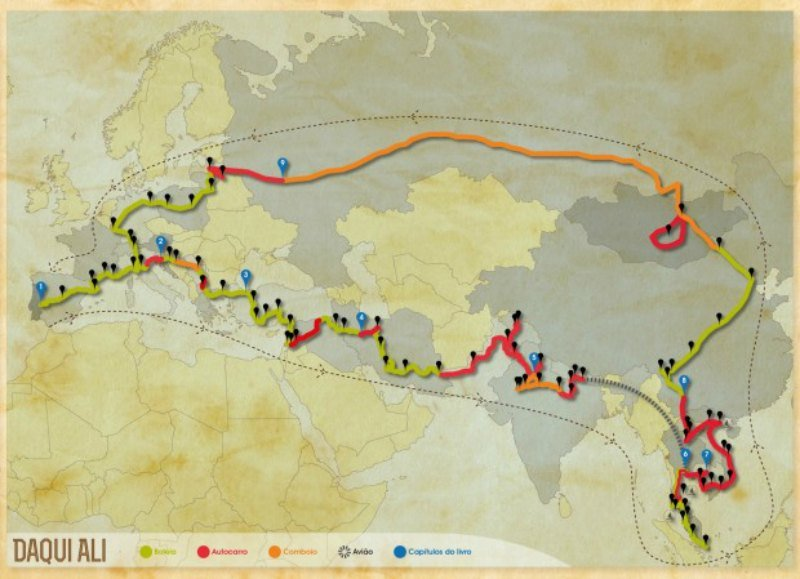Portugal to Singapore route map