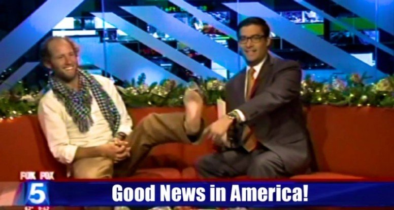 Rob appearing on Good News America