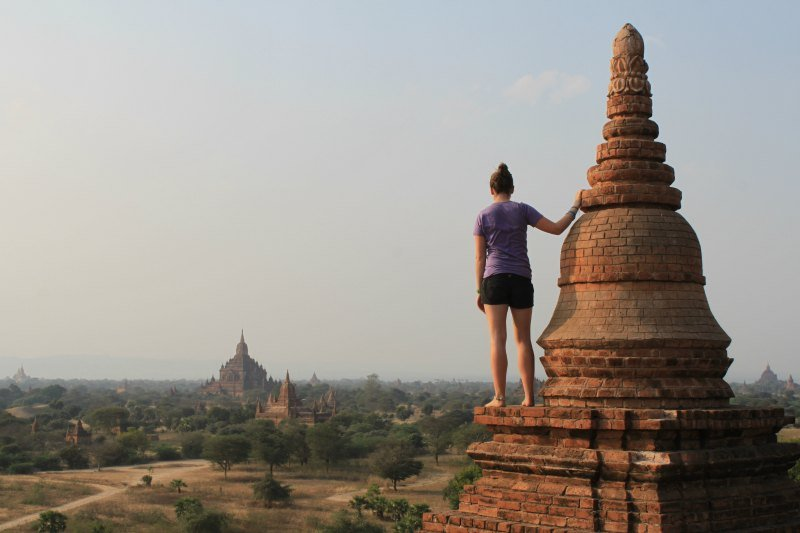 Looking out over the temples in Bagan