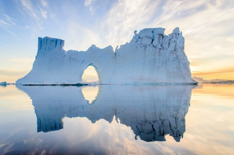 In summer when huge iceberg of hundred meters high melt, they can take special and beautiful forms
